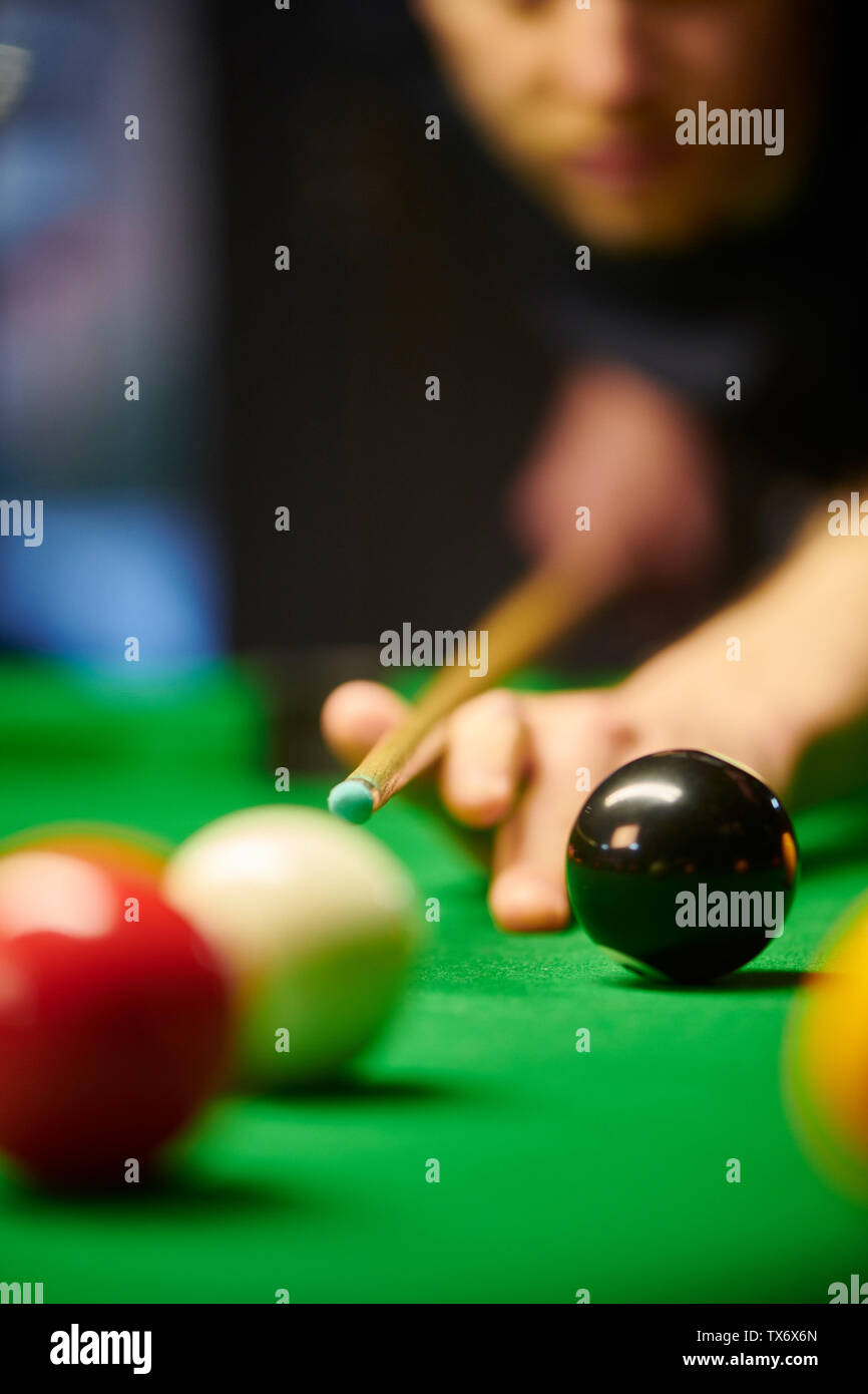 game of pool - Stock Image