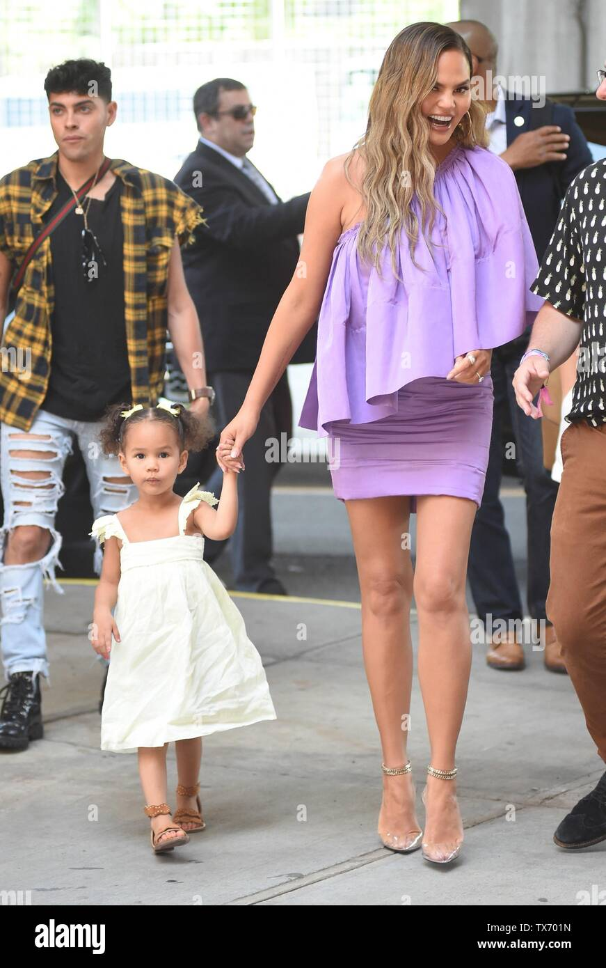 Luna Simone Stephens, Chrissy Teigen out and about for Celebrity Candids - SUN, , New York, NY June 23, 2019. Photo By: Kristin Callahan/Everett Collection - Stock Image
