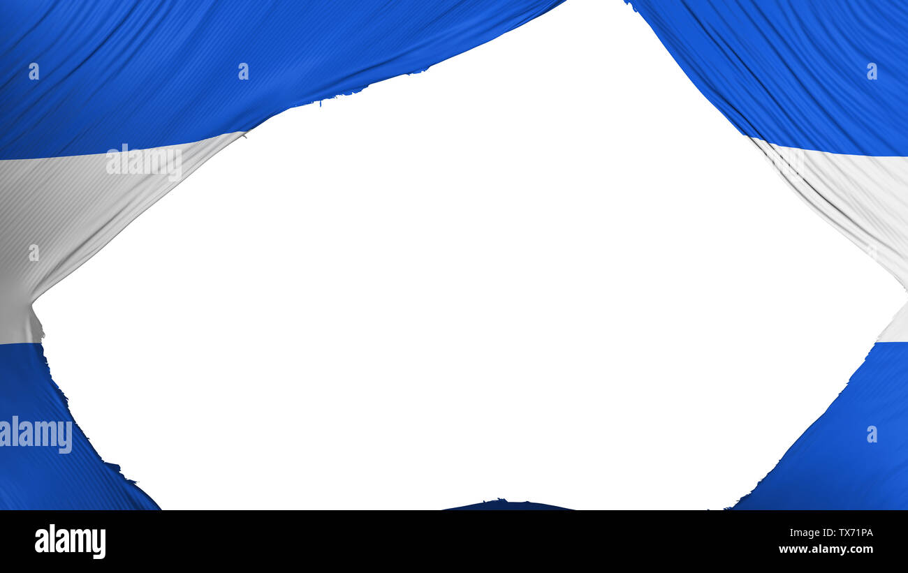 Divided El Salvador flag - Stock Image