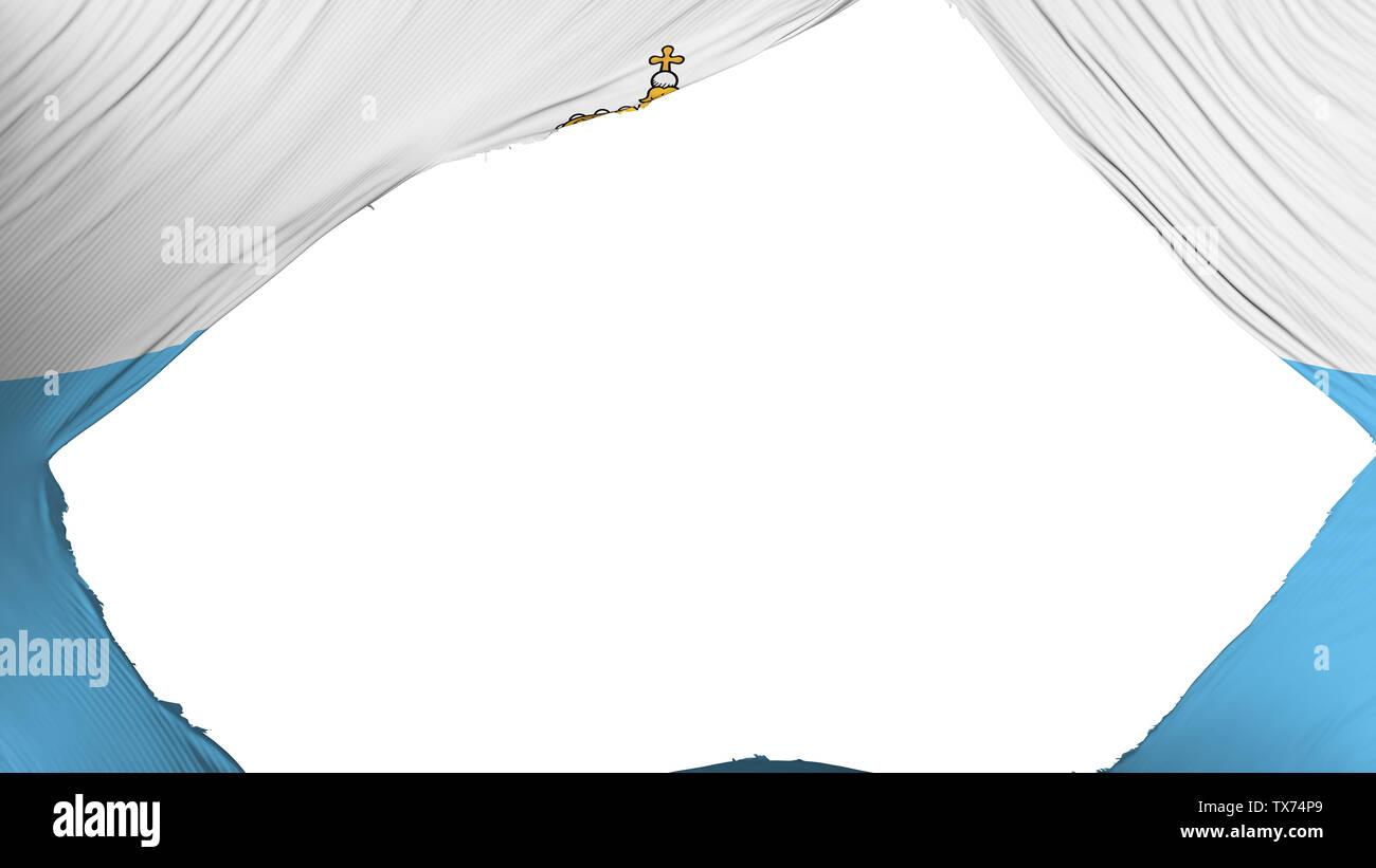 Divided San Marino flag - Stock Image