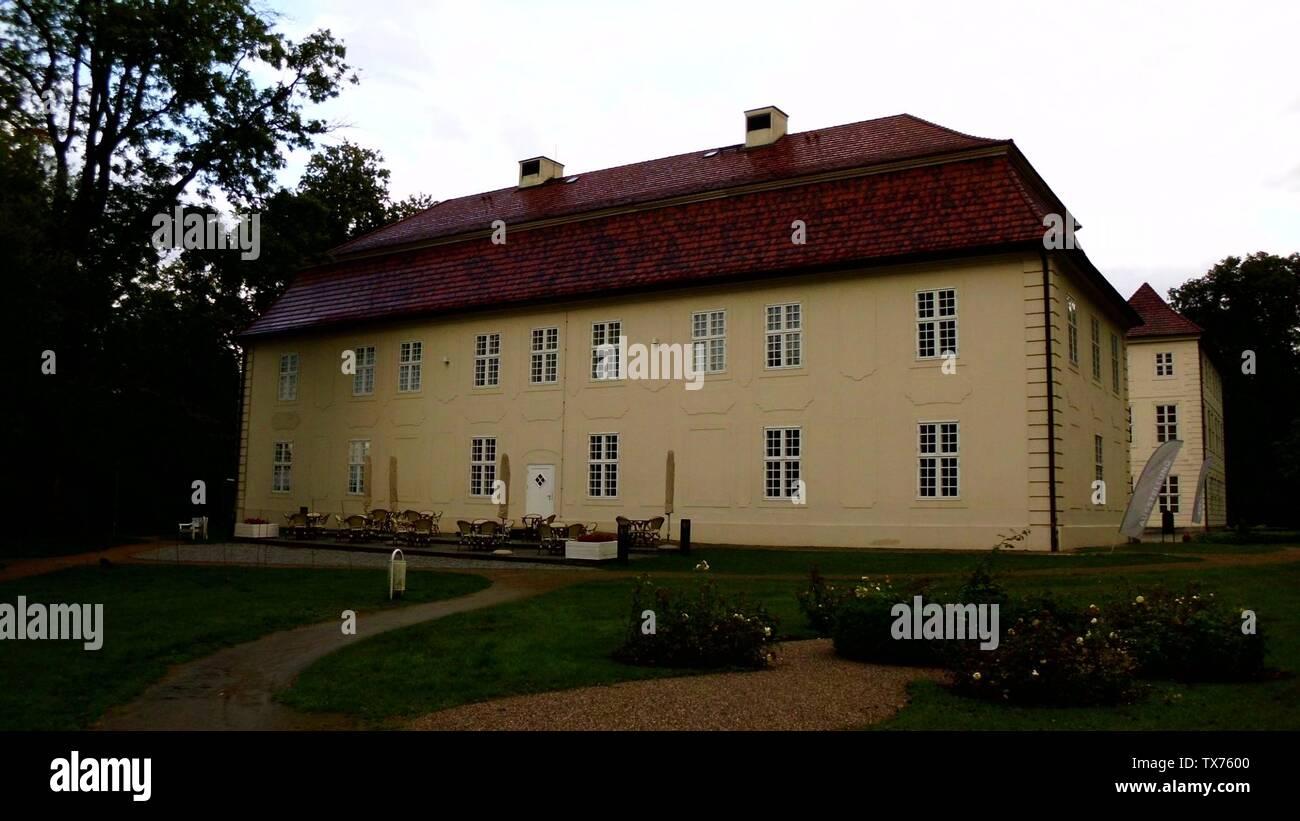Kavaliershaus des herzoglichen Schlosses Mirow (Schlossinsel Mirow).; Taken in31 August 20119 September 2011 (original upload date); Own work; Botaurus; Stock Photo