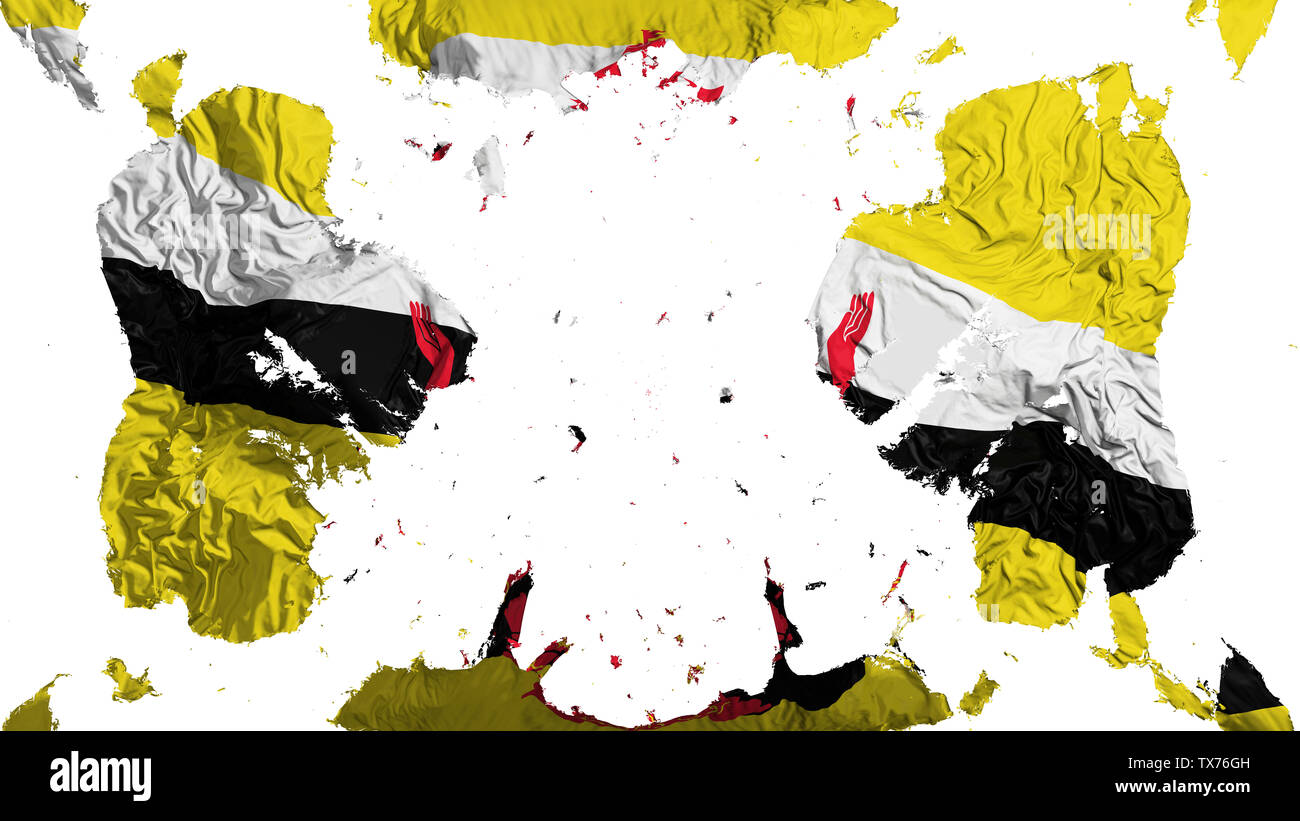 Scattered Bandar Seri Begawan flag - Stock Image