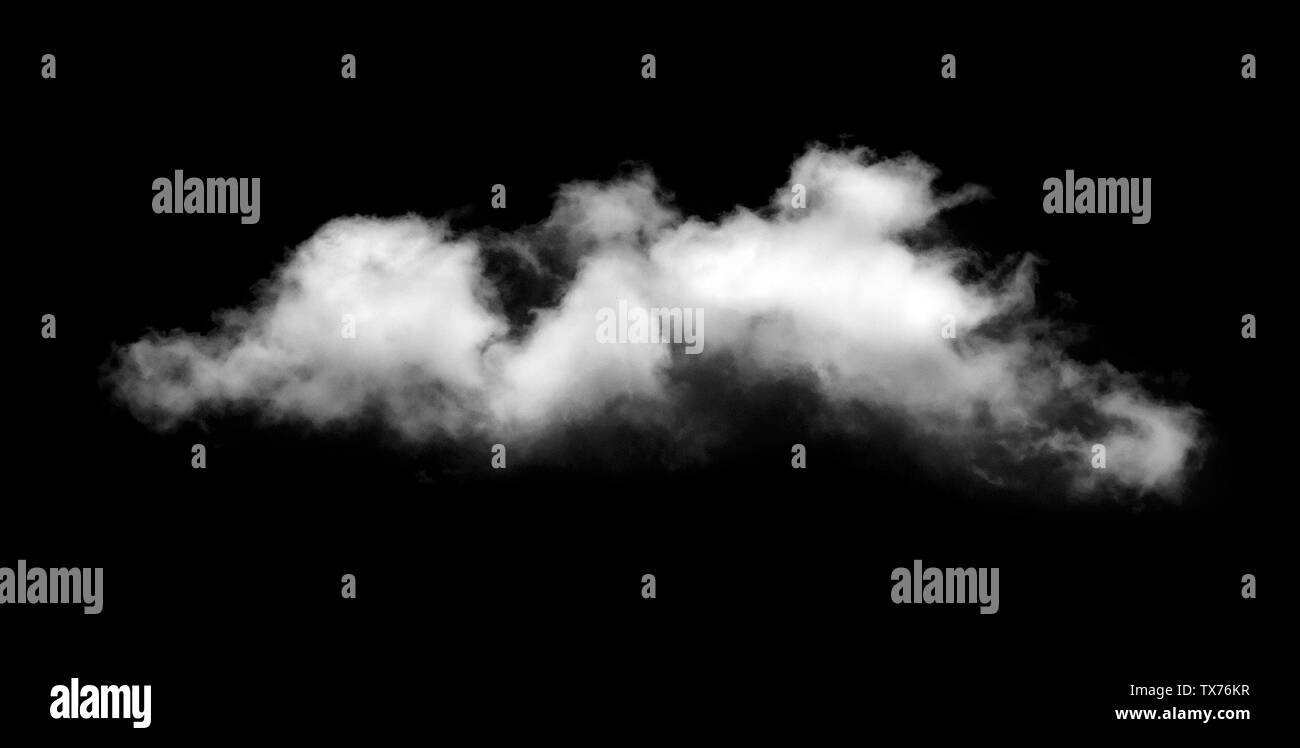 Clouds on black background - Stock Image
