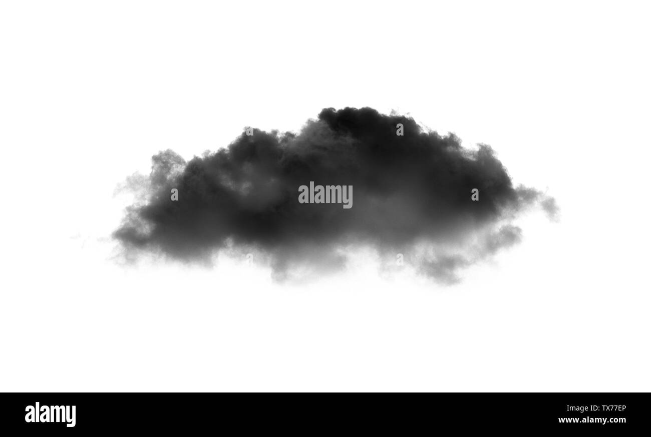 Clouds on white background. Clouds icon - Stock Image