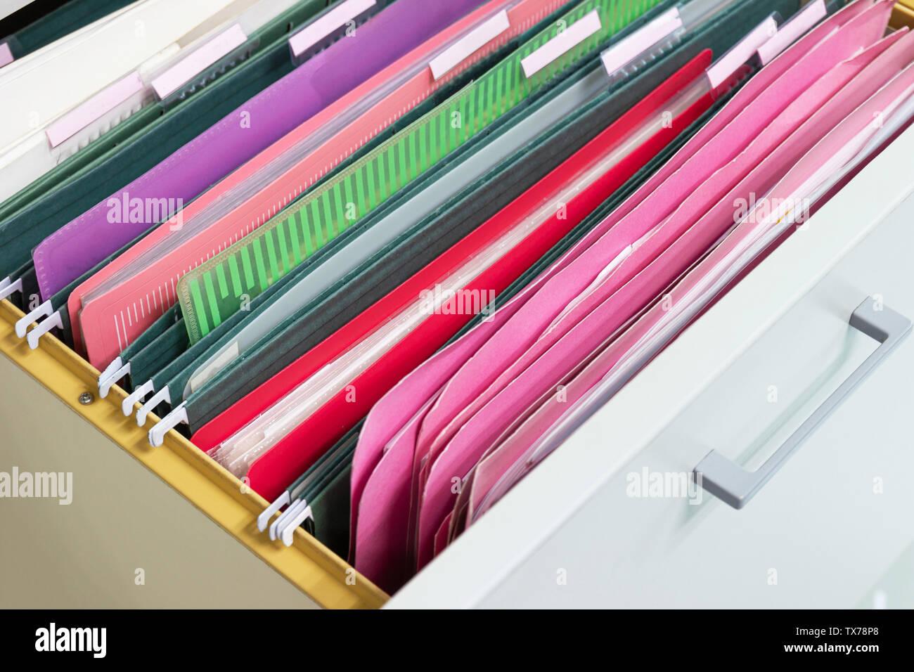 Hanging File Folders Stock Photos & Hanging File Folders