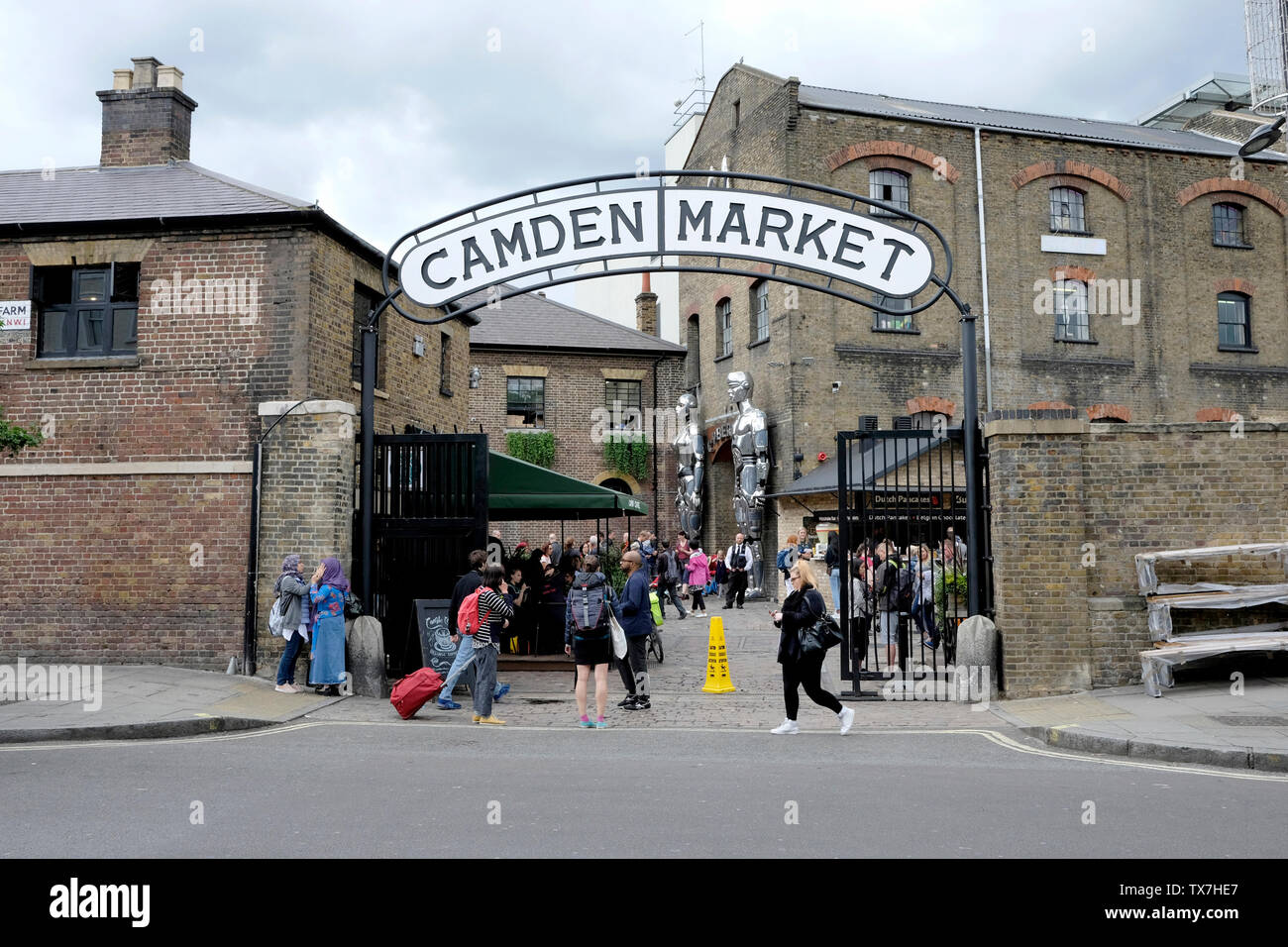 A general view of Stables market, Camden Town, London - Stock Image