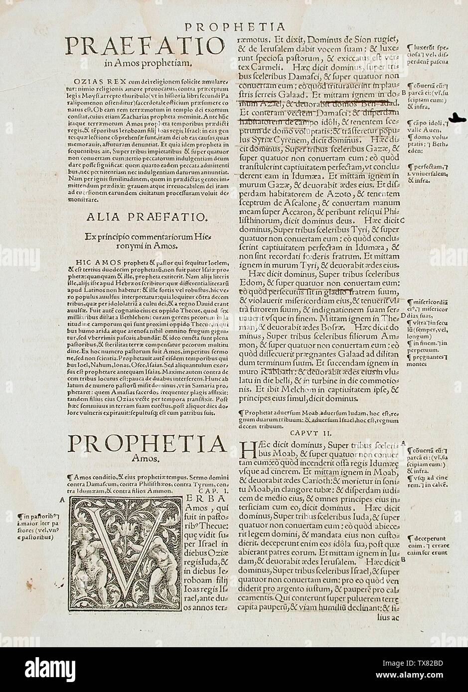 'Leaf from Breves in Eadem; English:  Germany, circa 1500 Prints Letterpress Gift of Abbey Rents (M.64.3.22a) Prints and Drawings; circa 1500 date QS:P571,+1500-00-00T00:00:00Z/9,P1480,Q5727902; ' - Stock Image