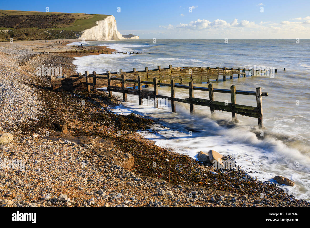 The Seven Sisters from Cuckmere Haven Stock Photo