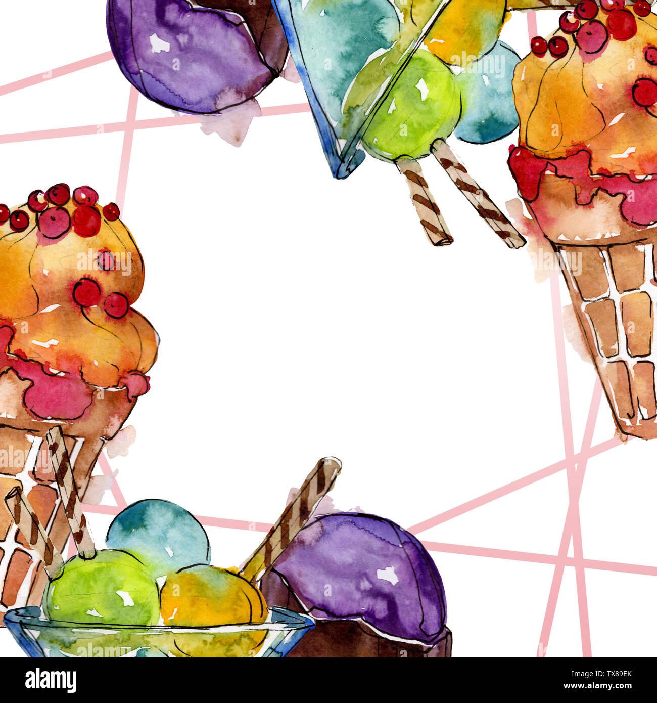 Dessert Frame Stock Illustrations – 20,398 Dessert Frame Stock  Illustrations, Vectors & Clipart - Dreamstime