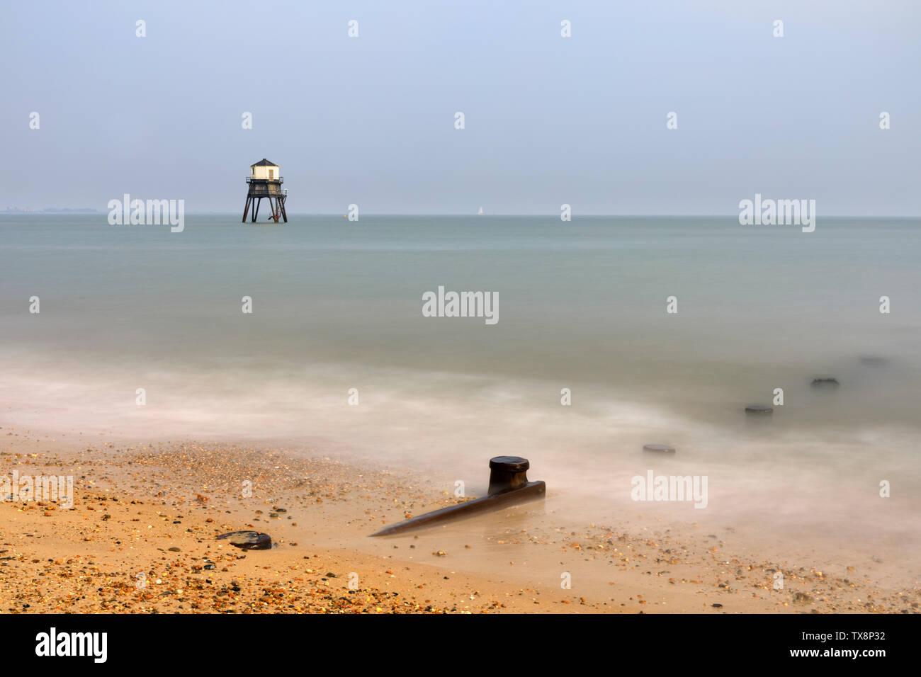 Dovercourt Lighthouse in Essex. Stock Photo