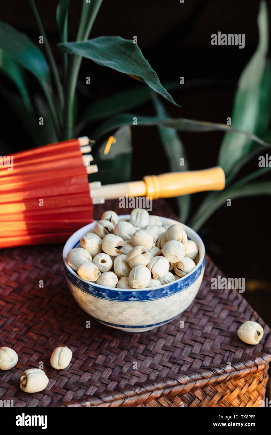 Lotus Root And Seeds Stock Photos & Lotus Root And Seeds