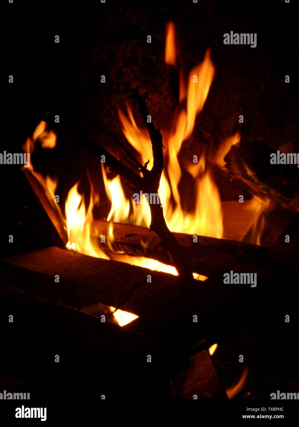 Fire Flames On The Beach Background Wallpaper Fine Art