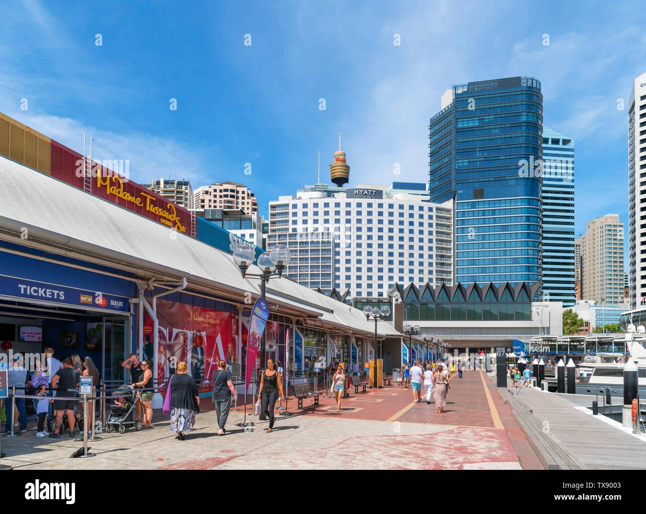 Aquarium Wharf, Darling Harbour, Sydney, Australia - Stock Image