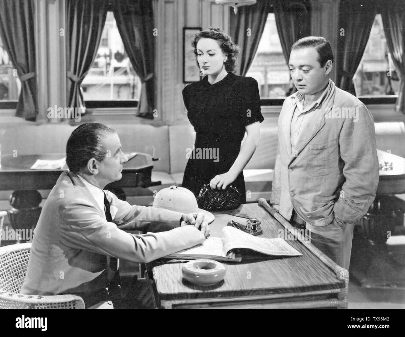 STRANGE CARGO 1940 MGM film with Joan Crawford and Peter Lorre at right Stock Photo