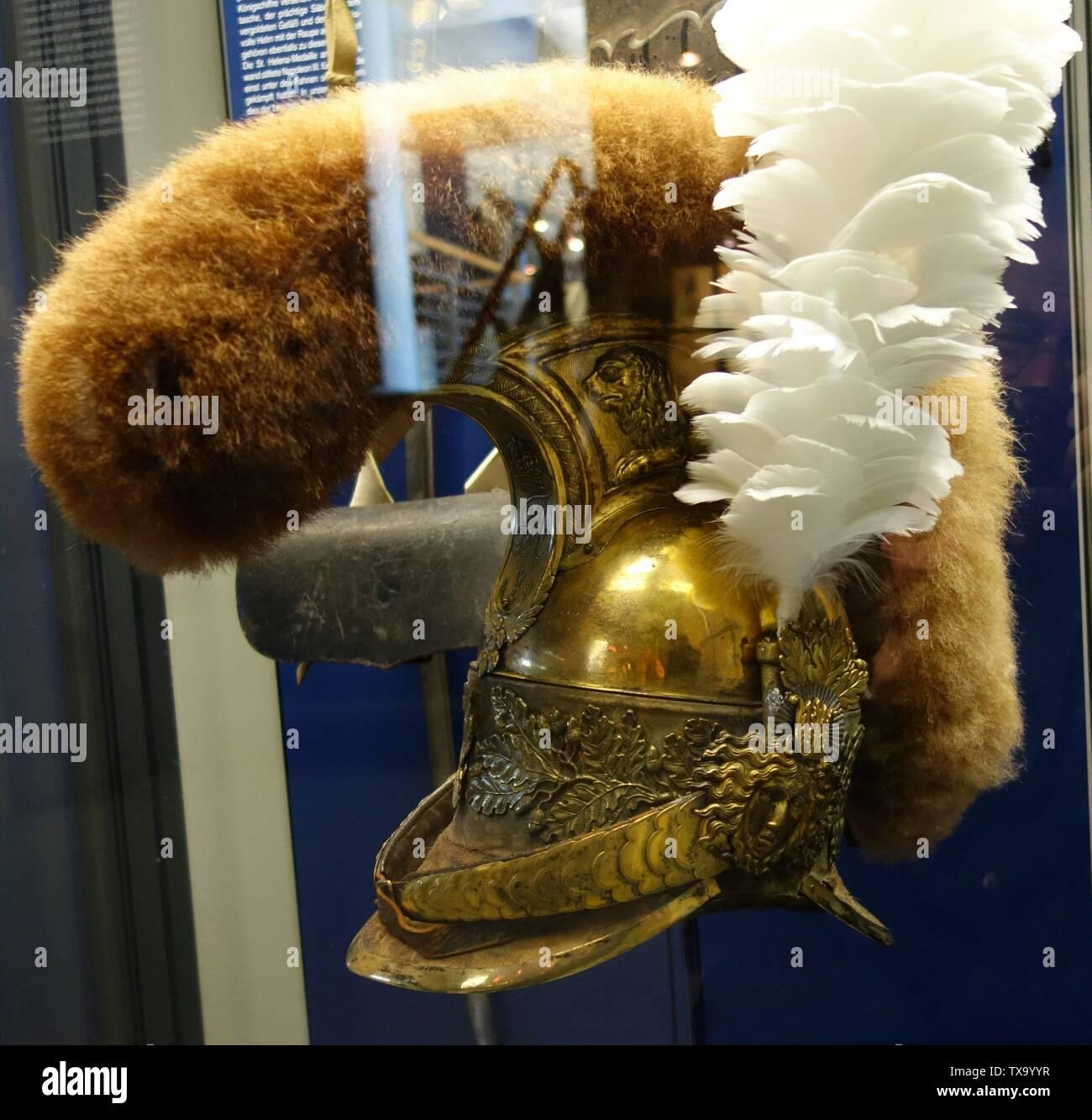 'Deutsch: Museum zur Völkerschlacht bei Leipzig, Prunkhelm.; Taken on18 May 2017, 11:43:36; Own work; Kürschner (talk) 10:13, 6 June 2017 (UTC); ' - Stock Image
