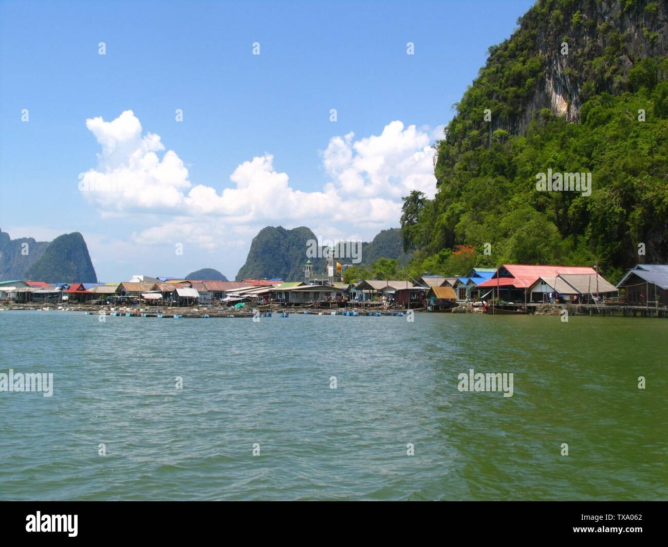Floating Muslim Village In Thailand Stock Photos & Floating