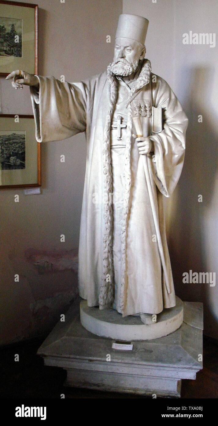 Română: Statuia de marmură a protopopului Teodor Economu, ronde-bosse în marmură, 187 x 82 x 94 cm, semnat și datat pe postament în față: C. Storck fec. 1884, inventar 9151390. Ea a fost realizată de sculptorul Karl Storck. Transpunerea în marmură a fost făcută de fiul său, Carl Storck. Statuia este expusă la Muzeul de Artă Frederic Storck și Cecilia Cuțescu-Storck; 1884; Transferred from ro.pedia to Commons.; Miehs (discuție) 17 ianuarie 2012 15:52 (EET).The original uploader was Miehs at Romanian pedia.Creator:Karl StorckCreator:Carl Storck; Stock Photo