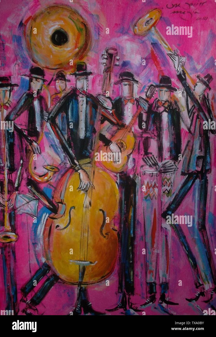 Español: Músicos de Jazz Latino Public domainPublic