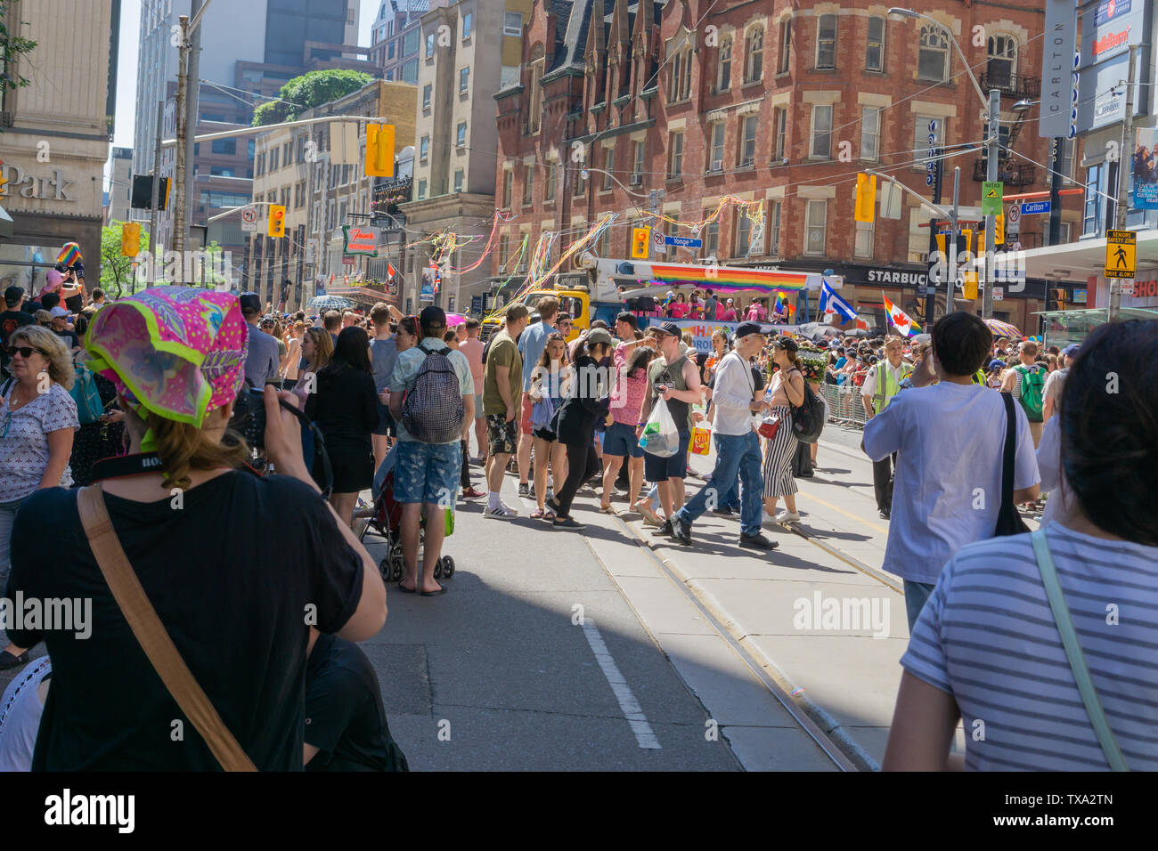 So many people, so much love. What a beautiful and important event for everyone Pride is. I am proud to be Canadian! - Stock Image