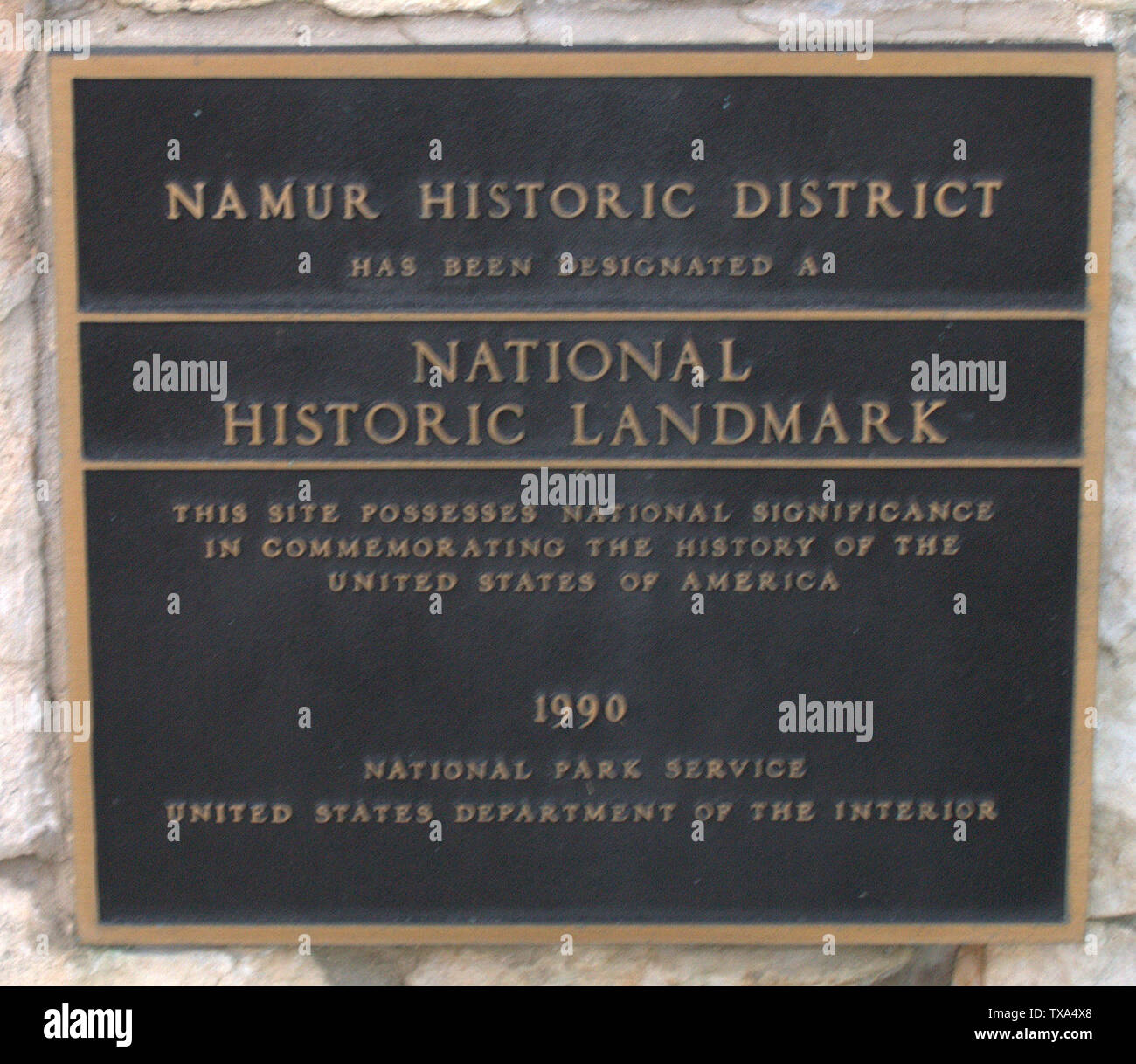 'English: Plaque on Historical Marker; 2 July 2008; Own work (Original text:  I created this work entirely by myself.); William Isaac Harter; ' - Stock Image