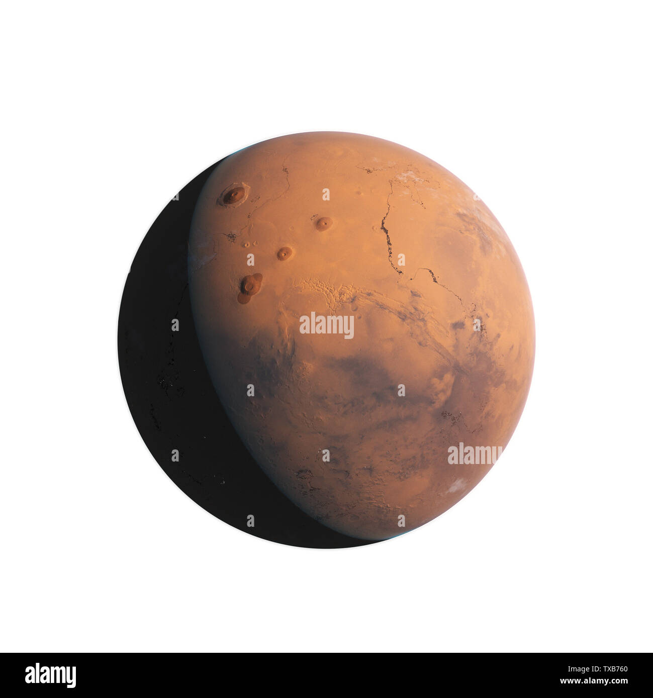 3d rendered illustration of mars - Stock Image