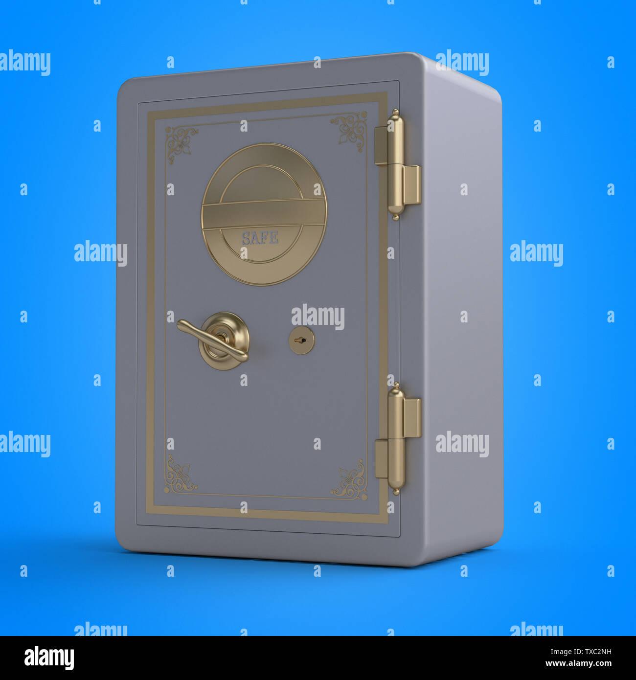 3d rendered illustration of a safe - Stock Image