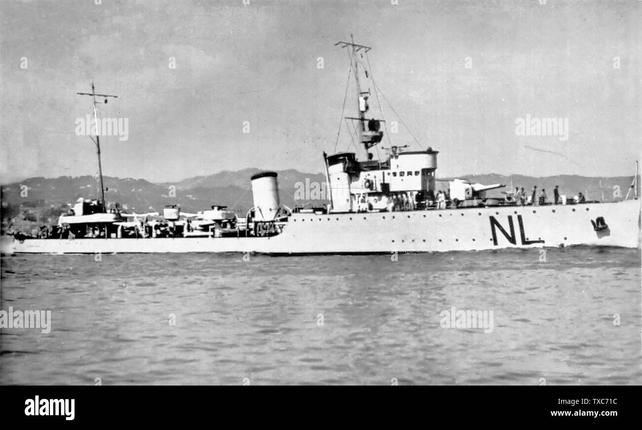 'The destroyer Francesco Nullo (NL) in navigation.; Unknown dateUnknown date; it.Wikipedia; unattributed; ' - Stock Image