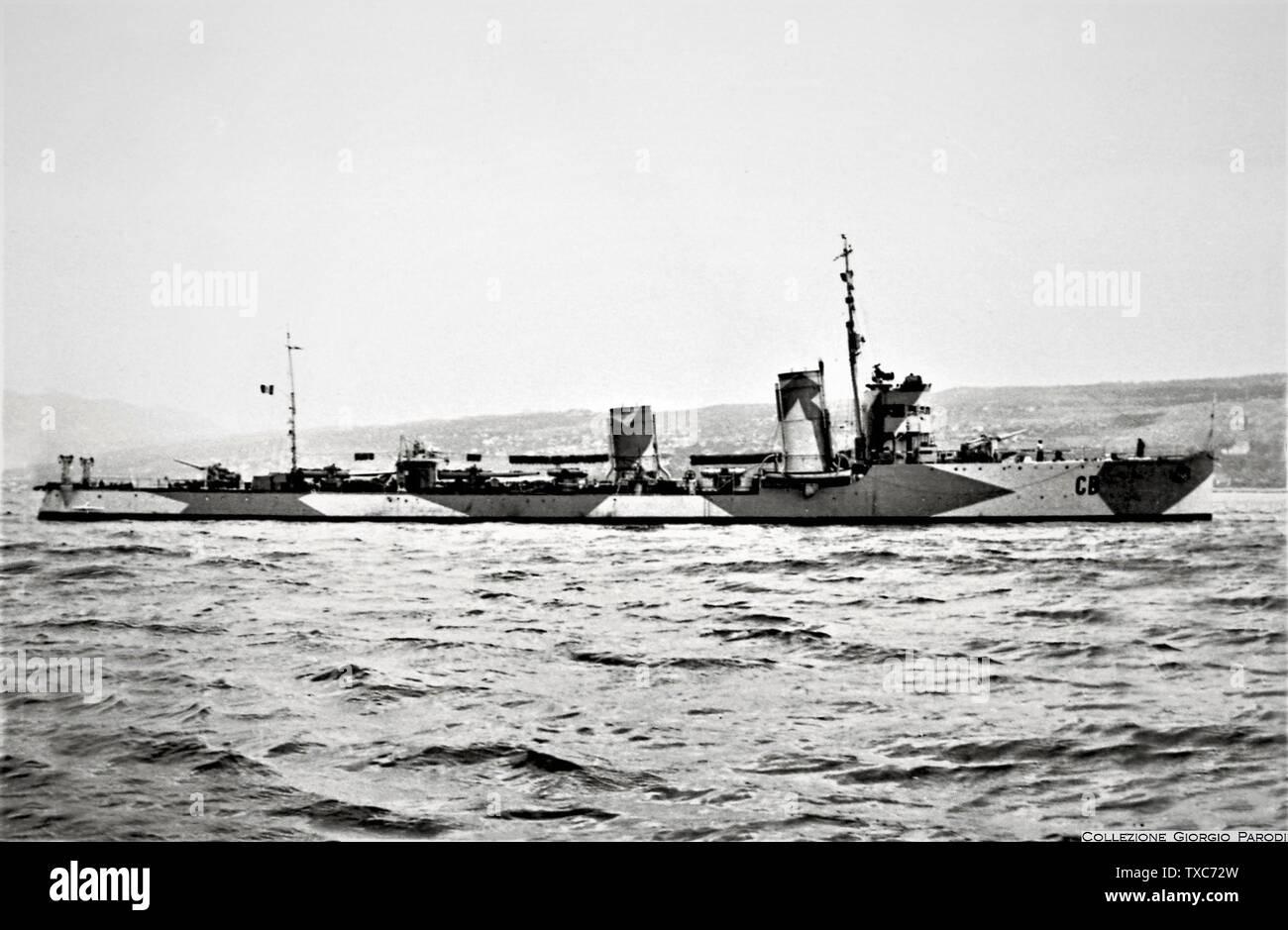 'The destroyer Castelfidardo (CD) at Fiume.; 1942; it.Wikipedia; unattributed; ' - Stock Image