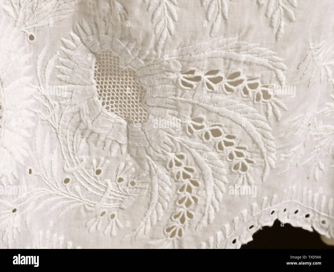 Cotton Broderie Anglais Lace Fabric CUTWORK Baby Clothing Dress Skirts Blouse