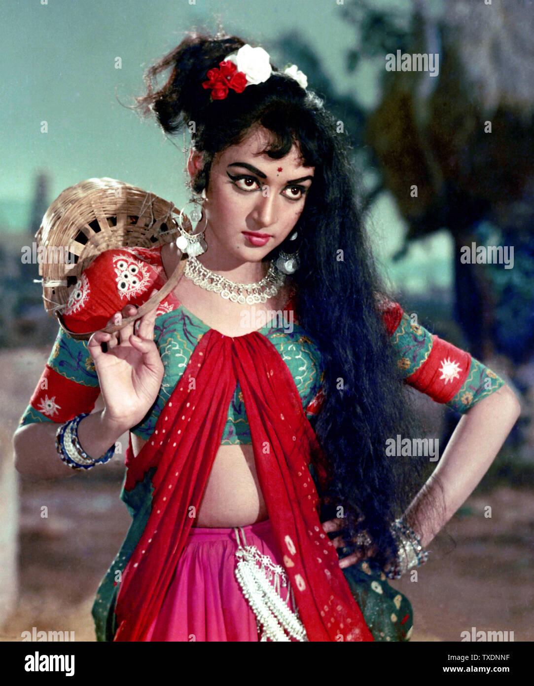 Indian Bollywood Actress Hema Malini India Asia 1968 Stock Photo Alamy