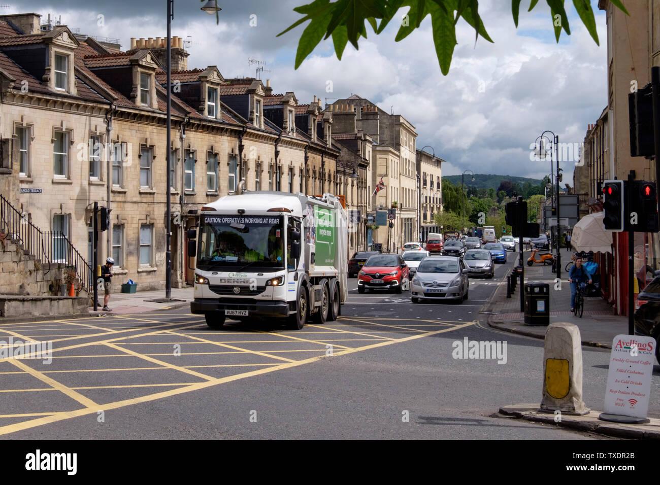 Traffic congestion on London Road Bath Somerset UK - Stock Image