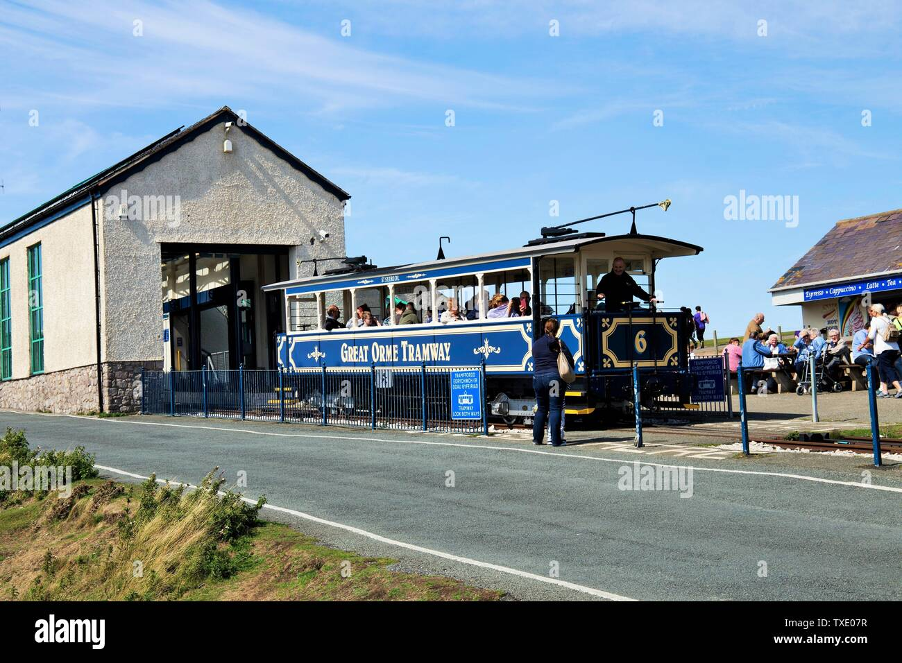 Tramway Great Orme, Llandudno, Wales, UK, United Kingdom Stock Photo