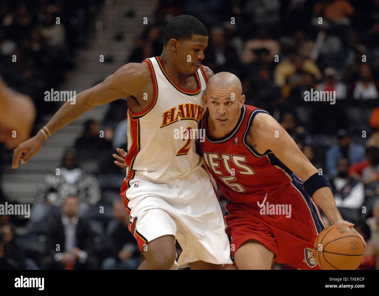 online store 47d67 9e137 New Jersey Nets Jason Kidd (5) drives against Atlanta Hawks ...