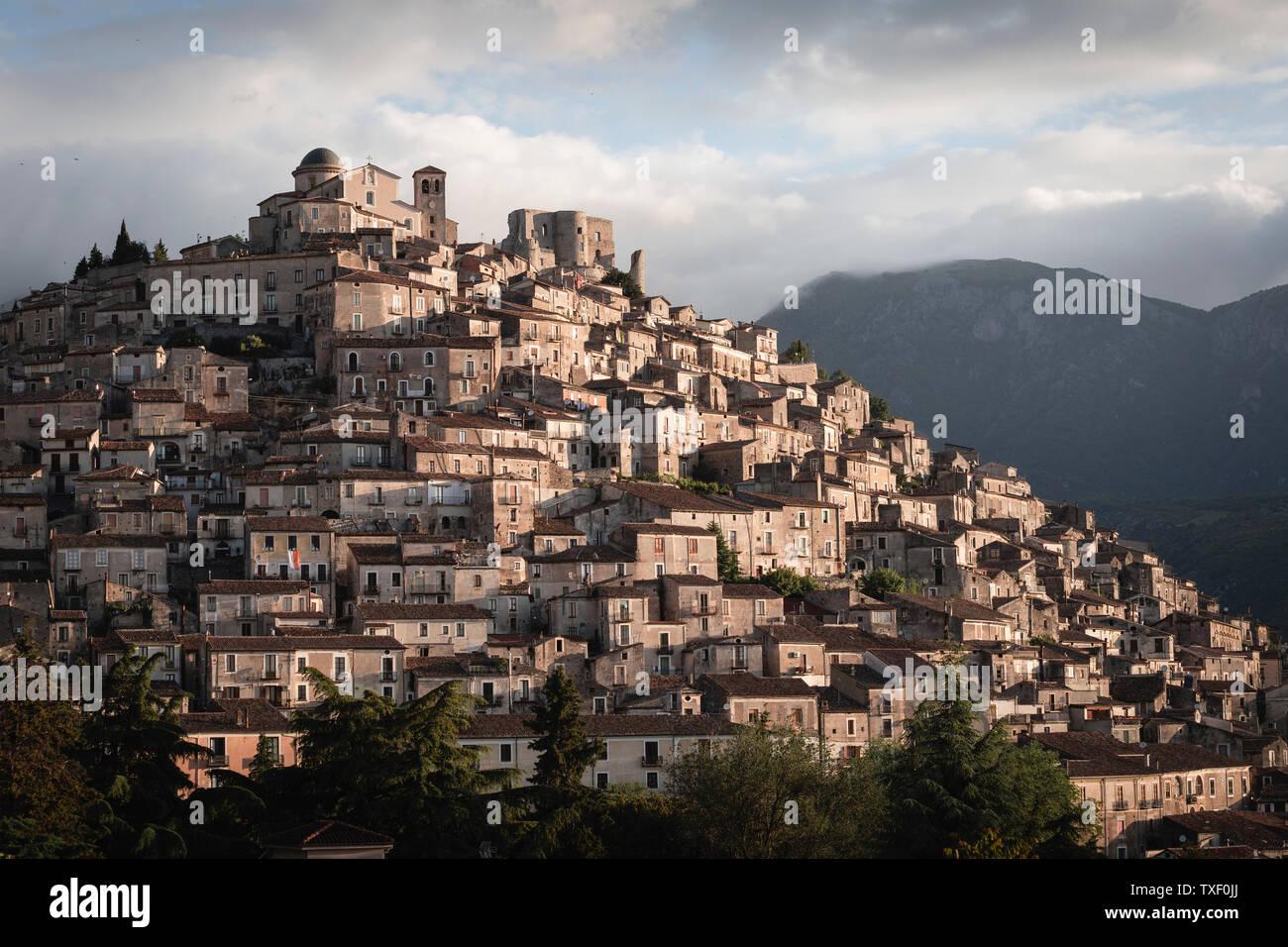 Town of Morano Calabro, Calabria, Italy - Stock Image