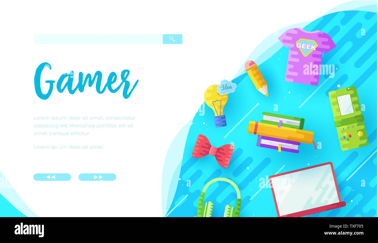 Games online store landing page template  Leisure activity