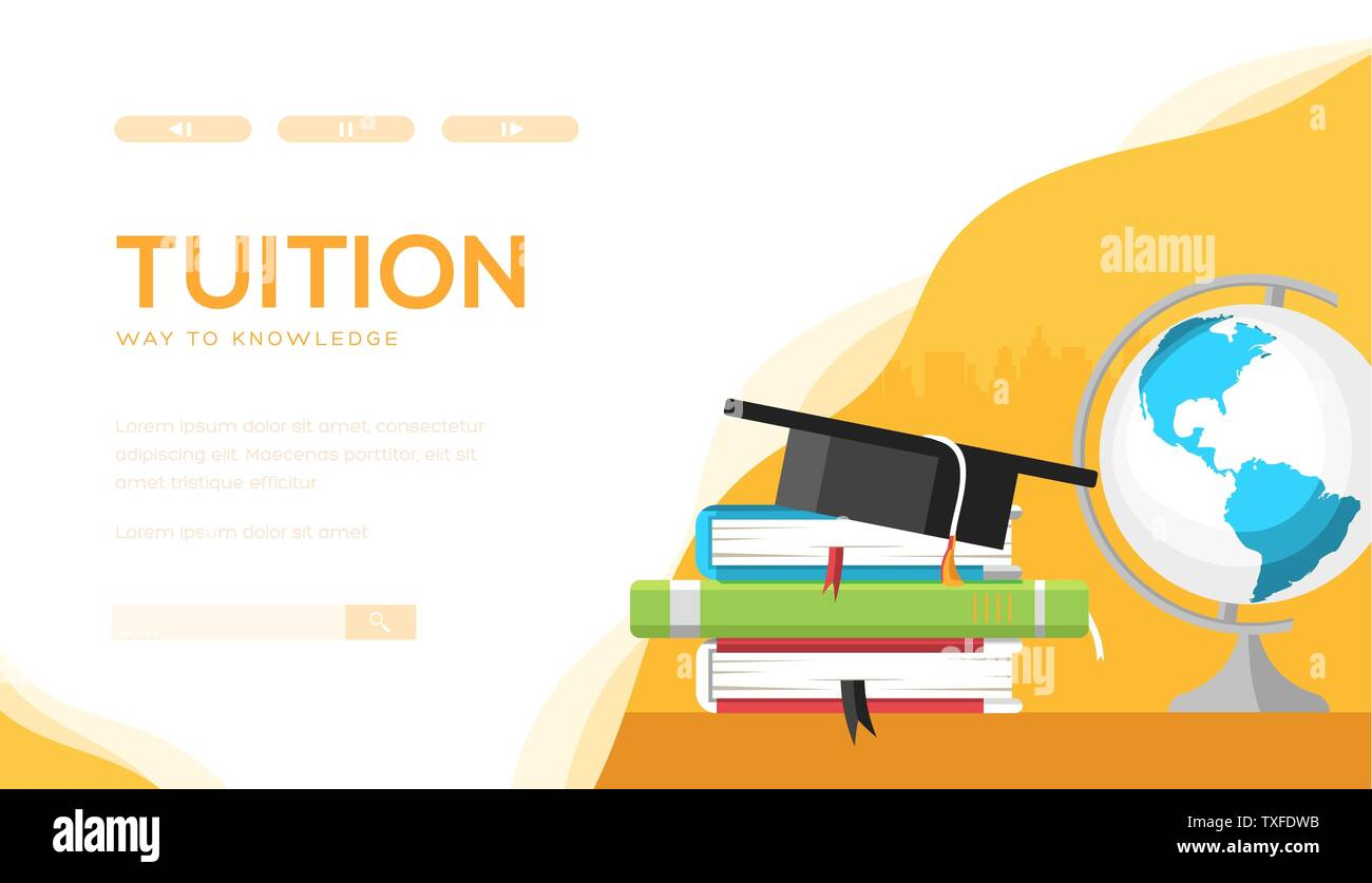 Tuition Vector Landing Page Template Individual Lessons Web Banner Design Online Education E Learning Website Homepage Bachelor Master Degree Illustration Teacher Tutor Coach Services Stock Vector Image Art Alamy