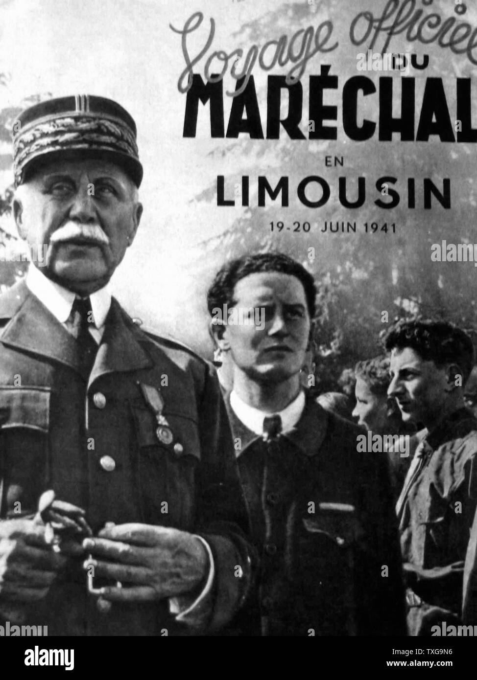 Henri Philippe Pétain, French general and known as the Marshal Petain. Chief of State of Vichy, from 1940 to 1944 - France - Stock Image