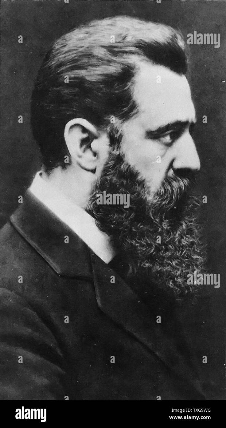 Theodor Herzl, born in Budapest (Hungary), founder the Zionist political movement. - Stock Image