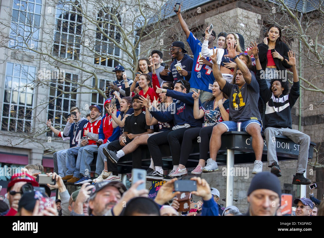 972ff27e Boston Super Bowl Parade Stock Photos & Boston Super Bowl Parade ...
