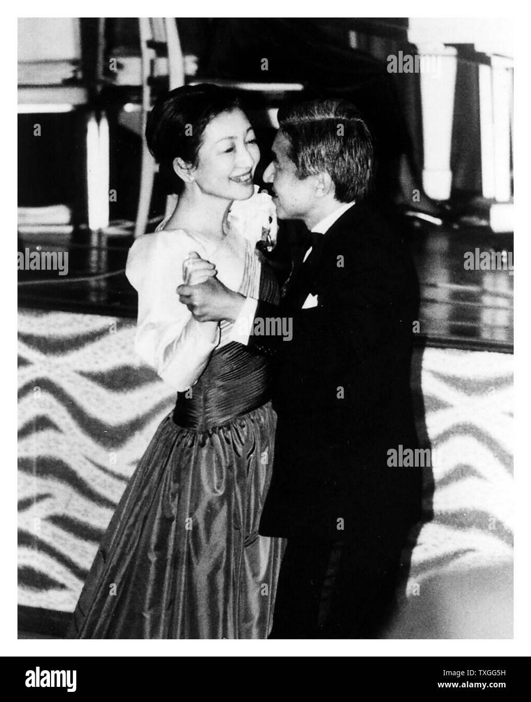 Emperor Akihito and Empress Michiko of Japan 1989 - Stock Image