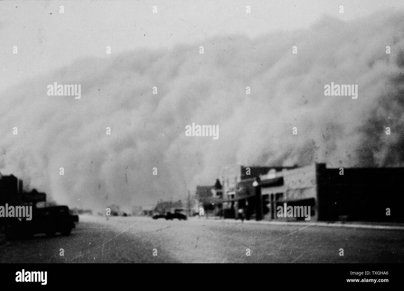 Photo Sky View Dust Storm Kansas 1935 Rolla