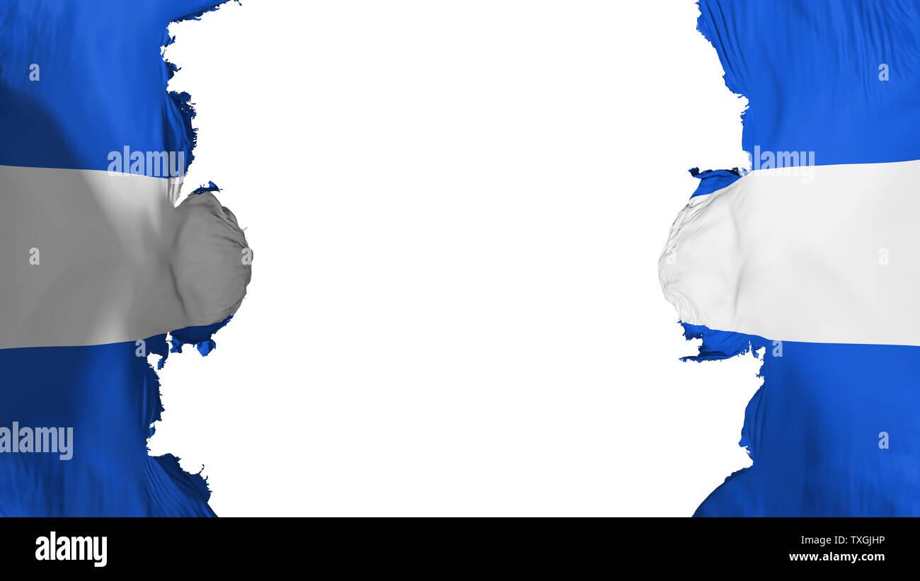 Blasted El Salvador flag - Stock Image