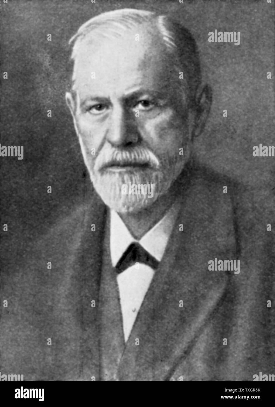 Portrait of Sigmund Freud, Austrian neurologist, ounder of Psychoanalysis 20th century - Stock Image