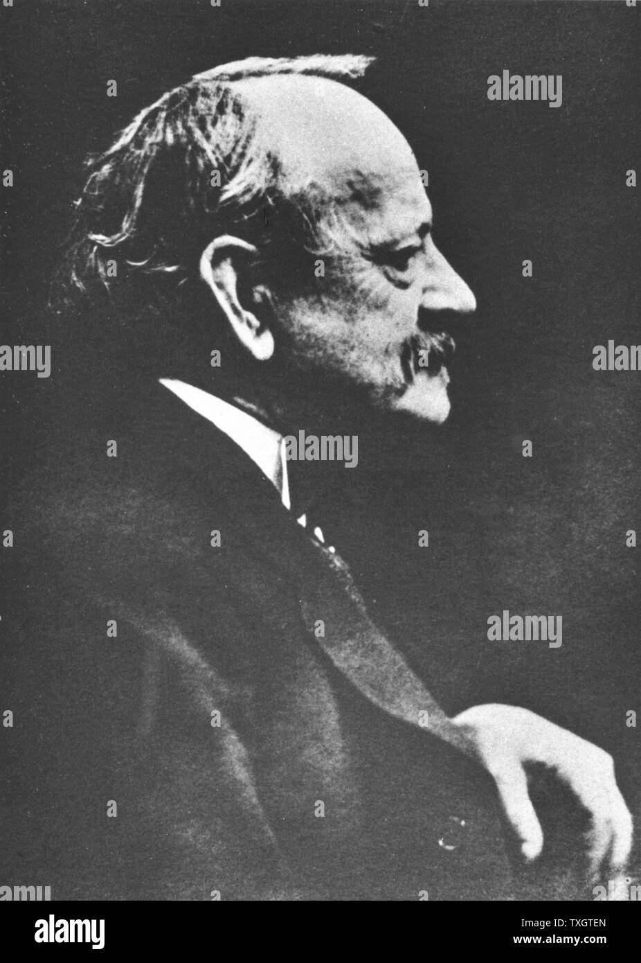 Joseph John Thomson (1856-1940) British physicist, discoverer of Electron and pioneer of nuclear physics.  From photograph taken c.1922 Stock Photo