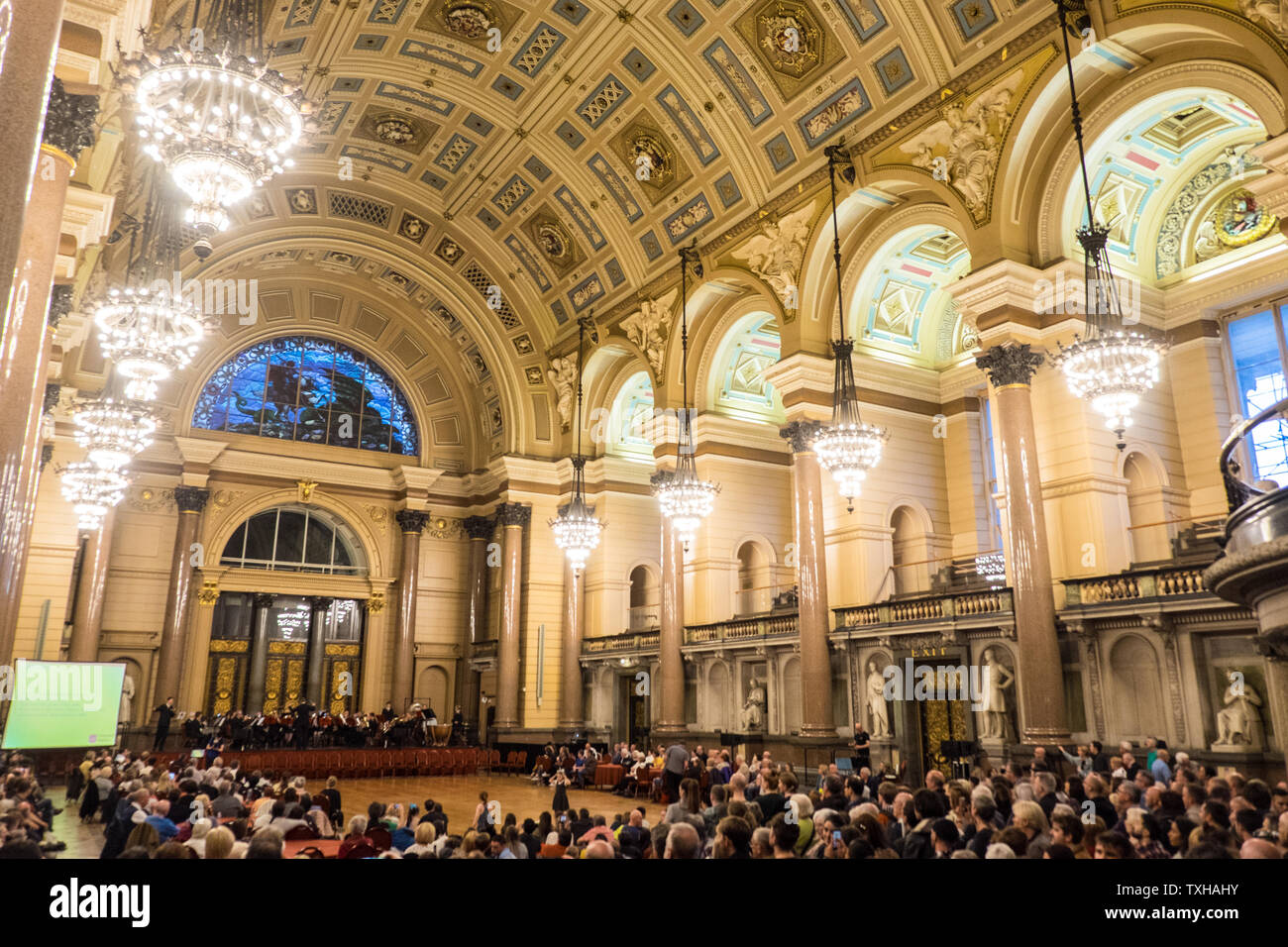 Lightnight Performance At St Georges Hall Inside Interior Liverpool North Northern City North West Merseyside England English Gb Britain British Uk Stock Photo Alamy