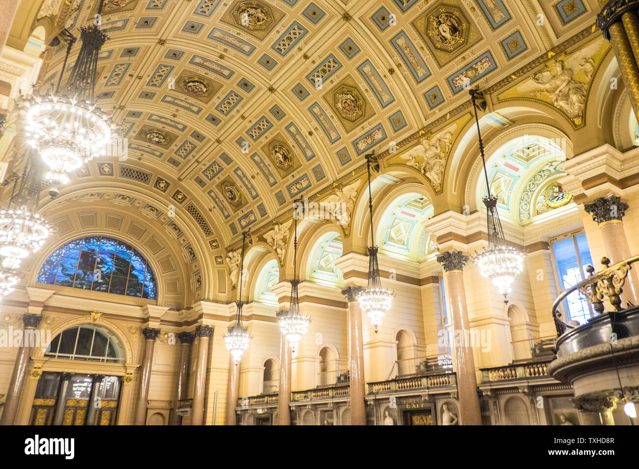 St Georges Hall Interior Inside Lightnight Performance Liverpool North Northern City North West Merseyside England English Gb Britain British Uk Stock Photo Alamy