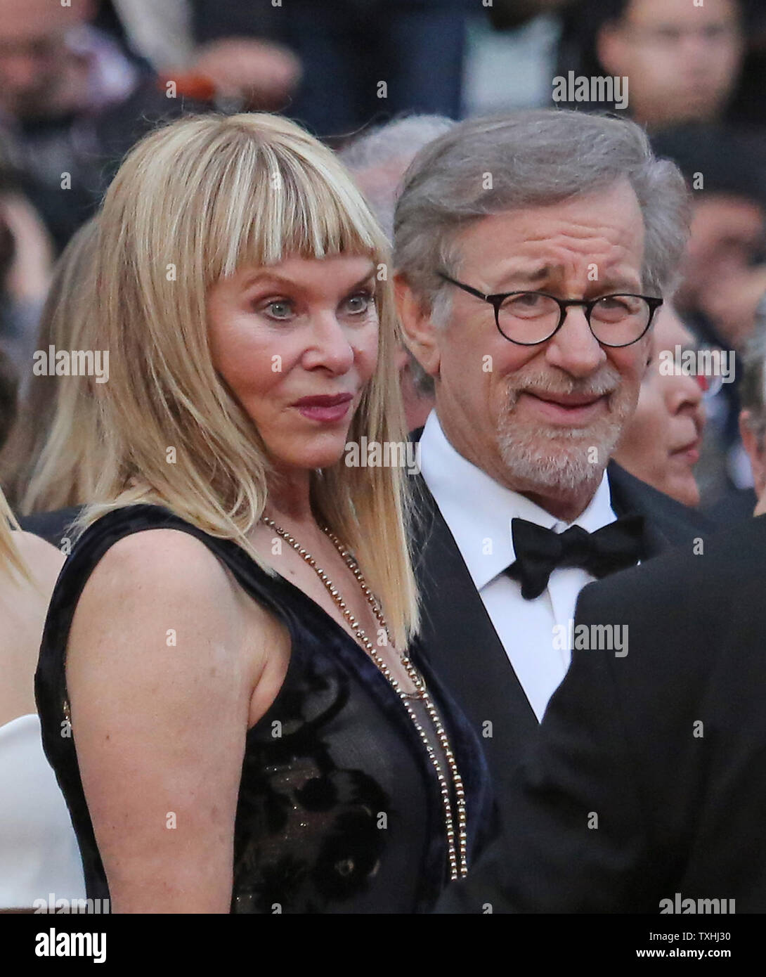 Kate Capshaw And Steven Spielberg Arrive On The Red Carpet Before The Screening Of The Film The Bfg At The 69th Annual Cannes International Film Festival In Cannes France On May 14