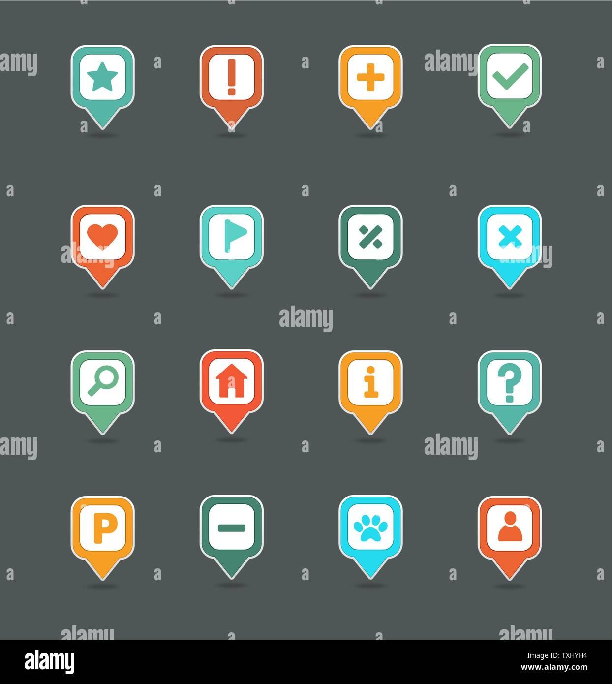 Pin map icon set. Map pointer. Map markers. Destination ... Map Comp Symbol on mod symbols, power symbols, crane symbols, sport symbols, baltimore symbols, cd symbols, race symbols, state symbols, real symbols, cook symbols,
