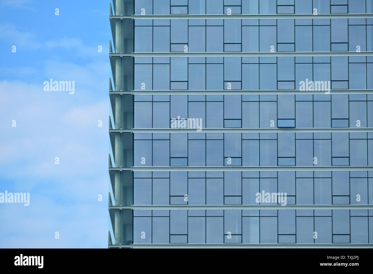 Blue curtain wall glass Stock Photo