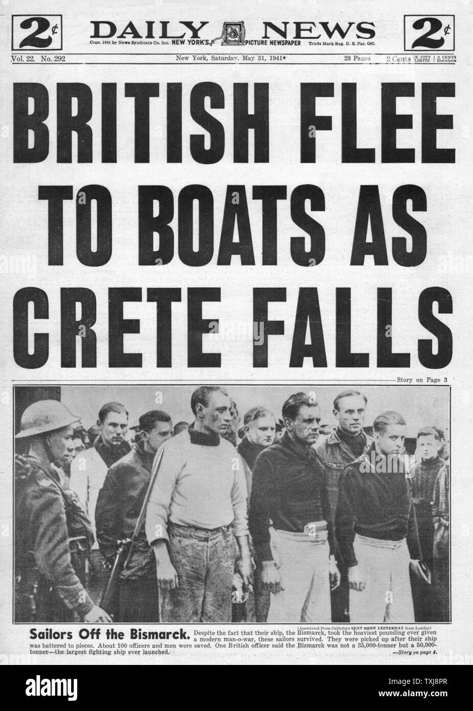 Image result for germans invade crete may 1941 - newspaper